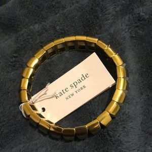 Kate Spade Sliced Scallops Stretch Bracelet NWT